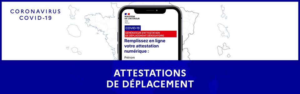 Attestation dérogatoire au Couvre-feu de 18h à 6h